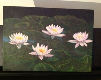 Painting of water lilies.