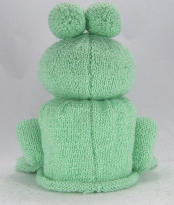 Frog Toilet Roll Holder Knitting Pattern, Bog Frog Knitting Pattern, Frog Kni...