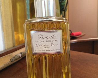 Hard to find eau de toilette VINTAGE Diorella eau de toilette 100 ml - 3.4 OZ.FL 1970 without box without cap
