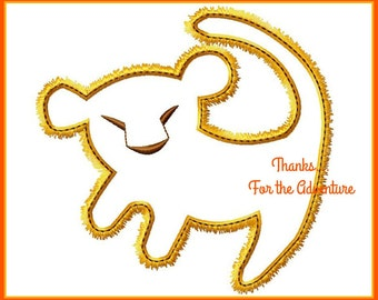 Lion King Baby Simba Digital Embroidery Machine Applique Design File 4x4 5x7 6x10