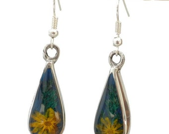 Nahua Yellow Flower Earrings