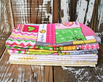 Reusable Flannel Baby Wipes- set of 10