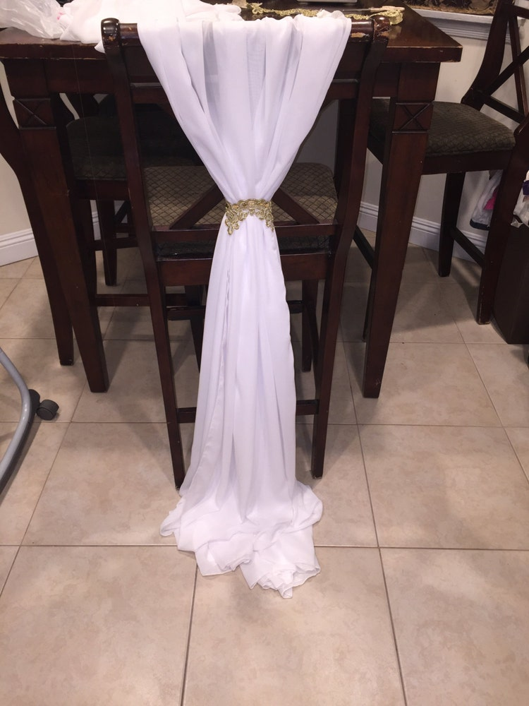 wedding chiffon chair sash many colors by njmpartydecorandmore