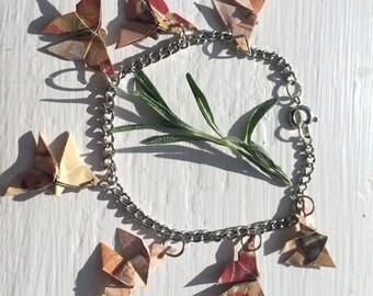 Origami Butterfly Charm Bracelet