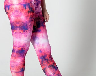 Pink Marble, Stretch Leggings