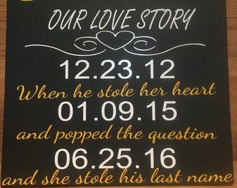 Love story wedding gift