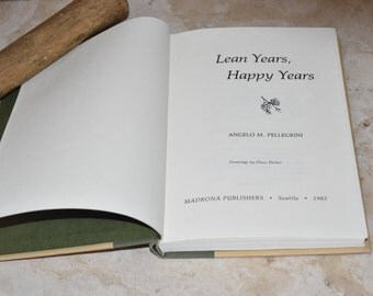 """Vintage Signed """"Lean Years, Happy Years""""  Antique Hardcover Book 1983"""
