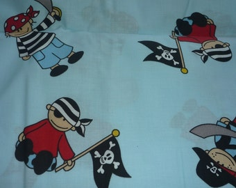 Cotton cute pirate on a light blue background