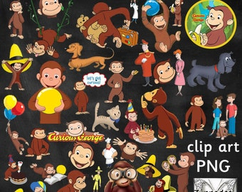 Curious George Clipart - 39 images