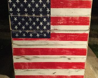 American Flag rustic, wood pallet sign, flag pallet sign, patriotic flag, wood flag sign,