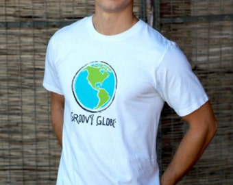 Groovy Globe Men's Organic T-shirt