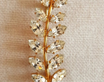 Leaf motif 'diamond' brooch
