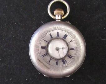 1800's Silver Case Europian Style Pocket Watch Vintage Victorian Era (0041)