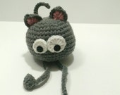 nonochoux nanny, plush cat, grey
