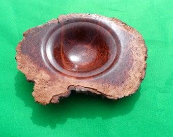 A Turned Tree Burr Bowl