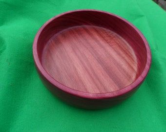 A Hand Turned Bowl in Purple Heart wood