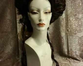 Rococo wig Lady wig baroques rokoko castana1770