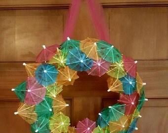 Drink Umbrella, Summer Wreath