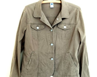 Khaki-coloured jacket. Brand vintage Gap. Small-Medium