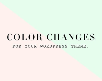 Color Changes - Wordpress Theme