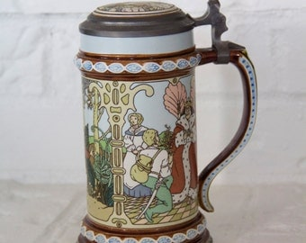 Villeroy and Boch Mettlach Brothers Grimm Stein #2902