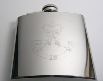 The Rifles Stainless Steel Hip Flask