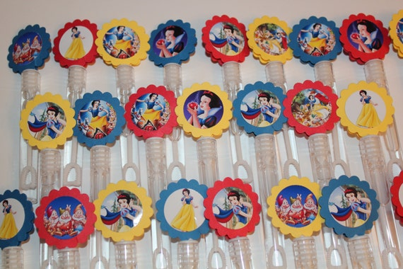Snow white mini bubble wands birthday party favor set of 15 for Mini bubble wands