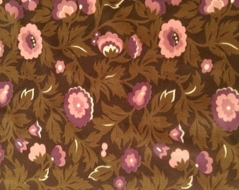 Vintage fabric with floral print