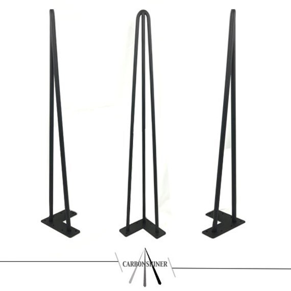 set of 4 hairpin table legs industrial retro style 12mm