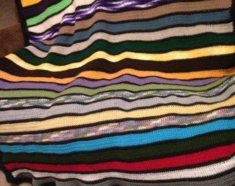 Handmade Multicolor Crocheted Blanket