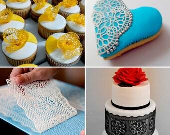 Silicone mould Flexible to create lace sugar - mold 7