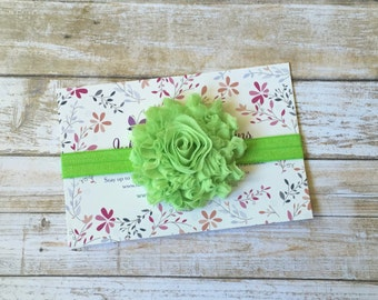 Green Headband, Lime Green Headband, Green Baby Headband, Baby Headband, Baby Girl Headband, Infant Headband, Toddler Headband, Headband