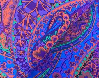 Paisley Jungle in Purple by Kaffe Fassett - Kaffe Fassett Collective