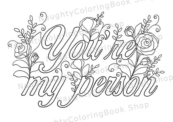 You Re My Person Best Friend Printable Gift Coloring Best Friend Coloring Pages