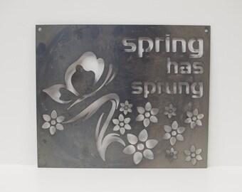 Spring Has Sprung Wall or Garden Sign