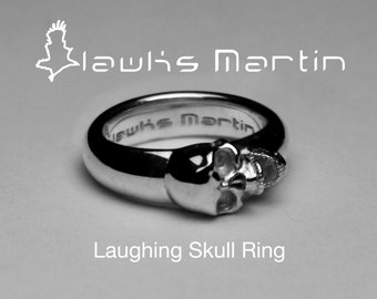 Hawks Martin Laughing Skull Ring