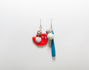At Bat Earrings