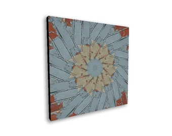 Abstract art, graphic art, wall art, canvas wall art, worn bricks, grunge art, grunge canvas art