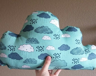 Small Rainy Cloud Arrow Pillow