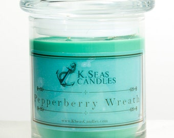 Pepperberry Wreath Candle