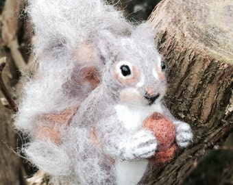 Needle felt squirrel -NOW SOLD.