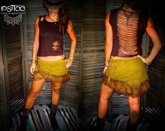 Crossaya crochet lace skirt chain & charms Bohemia