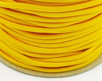 5, 10, 50 m rubber cord 3 mm yellow