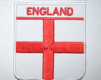 155 ENGLAND FLAG embroidered  patch english st.george  cross iron on embelm logo