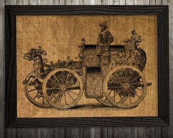 Antique art Chariot poster Victorian print Vintage print BLP885