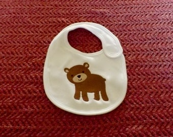 Baby Bear bib / Infant Bib / Baby Boy Bib / Baby Girl Bib
