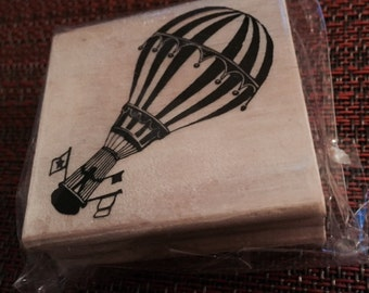 25%OFF SALE NEW Michaels Wood rubber stamp Hot-Air-Balloon