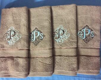 Set Of 4 Bathroom Hand Towels