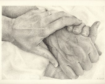 Custom Holding Hands Drawing