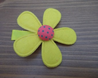 Yellow Flower Clip